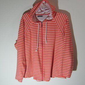Threehearts Stripe Zipper Jacket